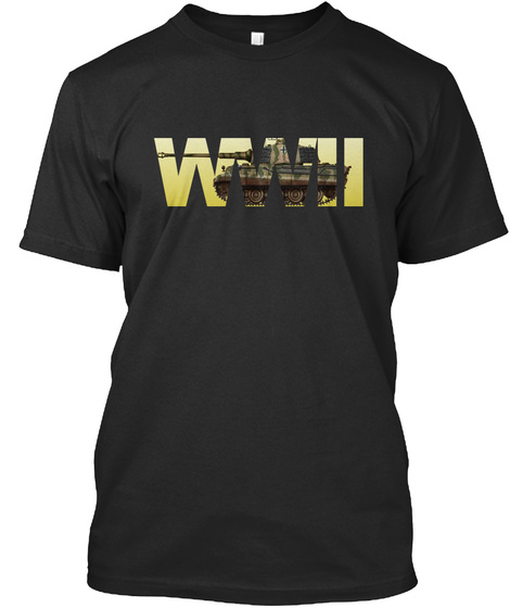 Wwii Black T-Shirt Front