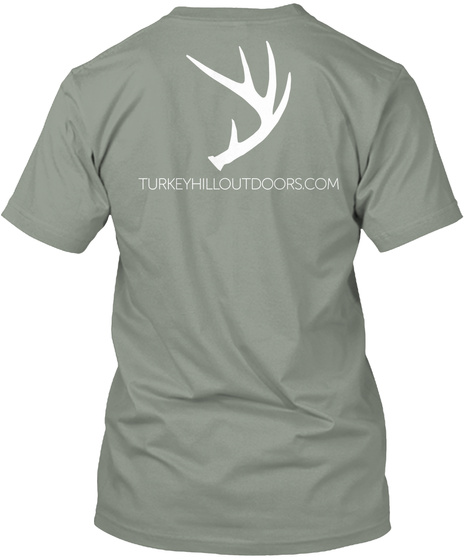 Turkeyhilloutdoors.Com Grey T-Shirt Back