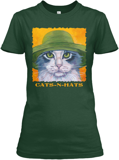 Gats N Hats Forest Green T-Shirt Front