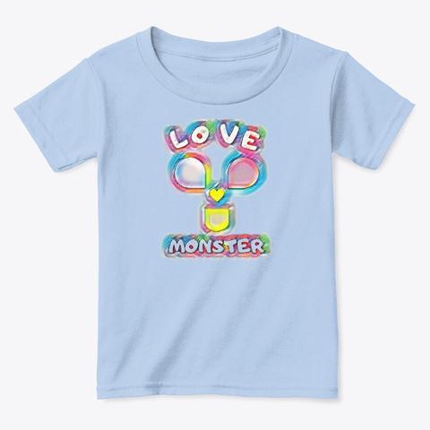 The Love Monster  Kids Tee Light Blue T-Shirt Front