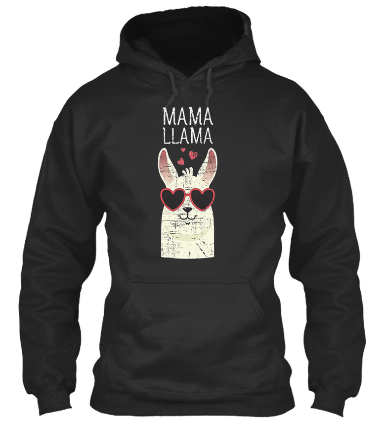 Printed-Mama-llama-Mama-Llama-Sweat-a-Capuche-Sweat-a-Capuche-Confortable