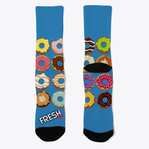Calcetines Divertidos Rosquillas Colores Denim Blue Kaos Front