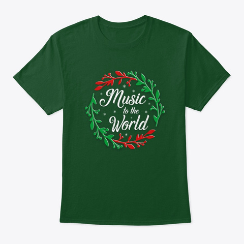 Music To The World Deep Forest T-Shirt Front