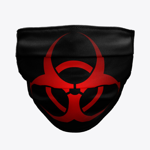 Bio Hazard Face Mask Black T-Shirt Front