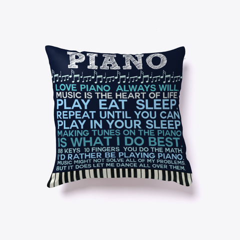 Piano Thoughts Pillow