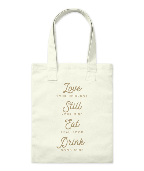 Love Your Neighbor (Tote) Natural T-Shirt Front
