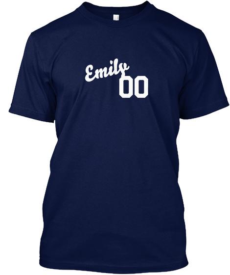 Emily Varsity Legend Navy T-Shirt Front