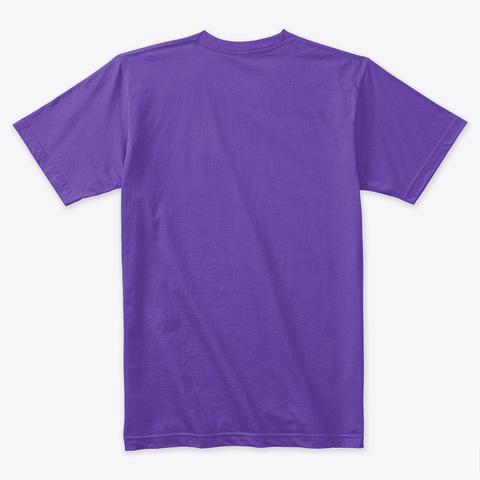 Oddity Files Logo Tee Purple Rush T-Shirt Back