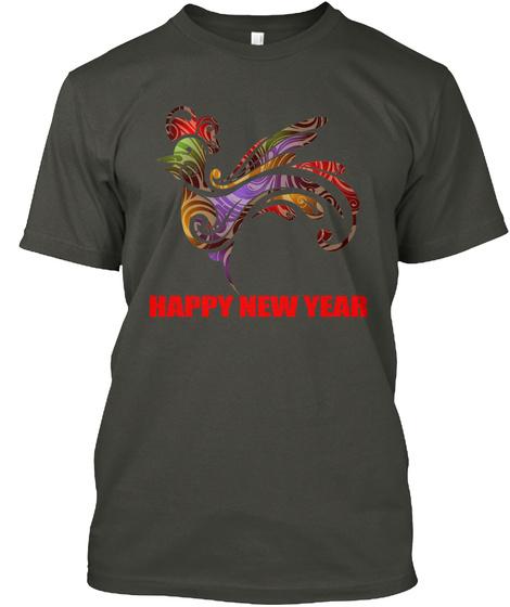 Happy New Year Smoke Gray T-Shirt Front
