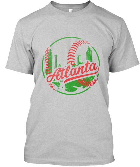 Atlanta Baseball Light Steel T-Shirt Front