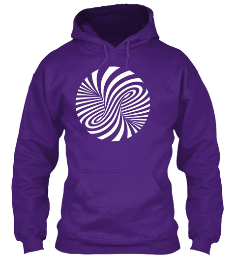 Trippy Hypnotic Vortex Spiral Art Purple T-Shirt Front