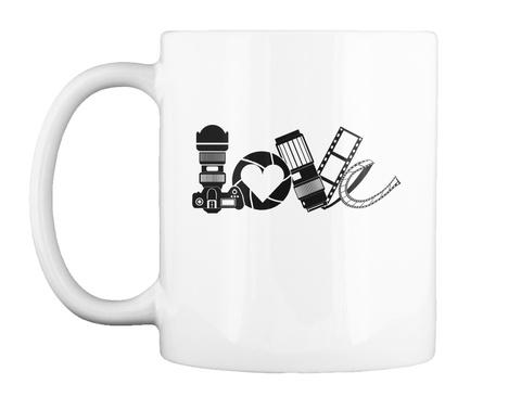 Photography Love &Amp; Develop Mug White T-Shirt Front