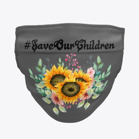 Save Our Children   Sunflower Charcoal T-Shirt Front