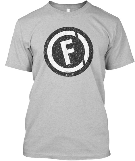 F Light Heather Grey  T-Shirt Front