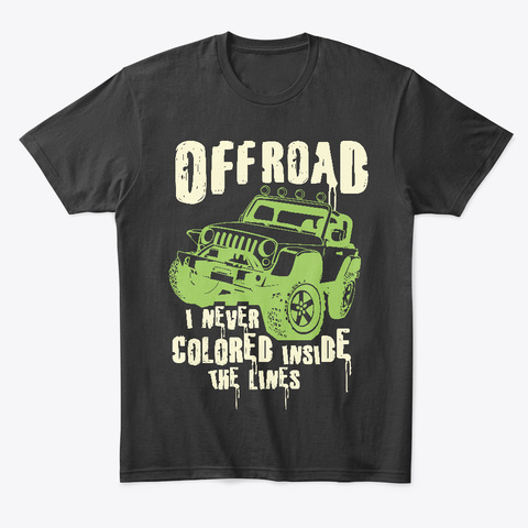 Offroad Jeep   Men's Tee Black T-Shirt Front