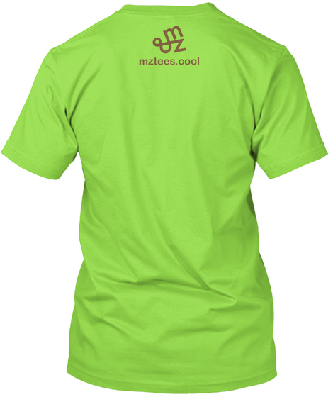 Tortoise And Hare Lime T-Shirt Back