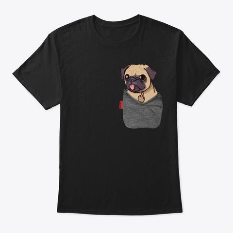 Pocketpug Black T-Shirt Front