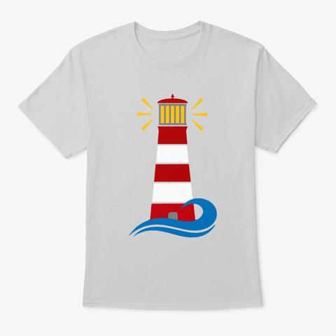 Lighthouse Light Steel T-Shirt Front