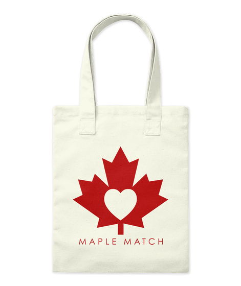 Maple Match Tote Natural T-Shirt Front
