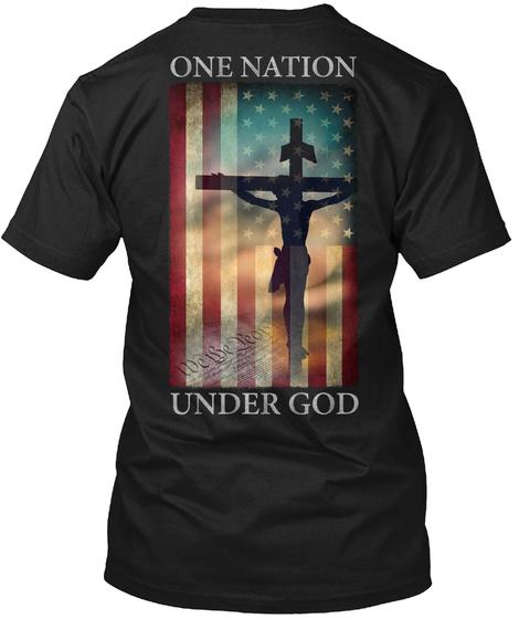 One Nation Under God Black T-Shirt Back