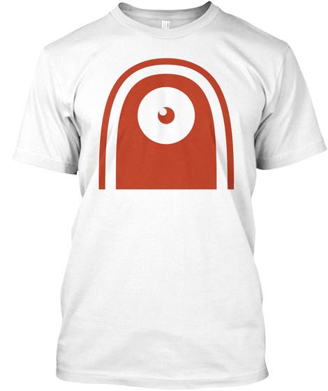 Door Monster Logo White T-Shirt Front