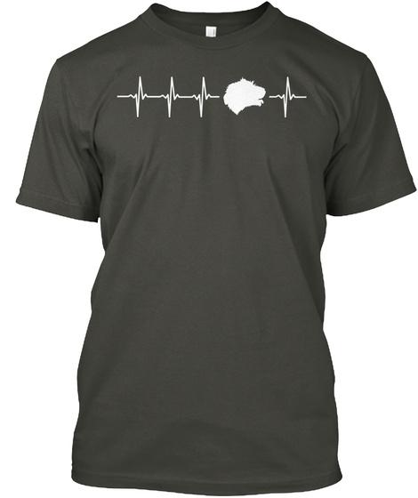 Irish Wolfhound Gift   For Dog Lovers Smoke Gray T-Shirt Front