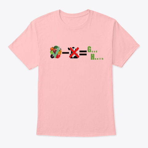 Good Health Pale Pink T-Shirt Front