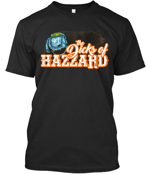 The Dicks Of Hazzard Black T-Shirt Front