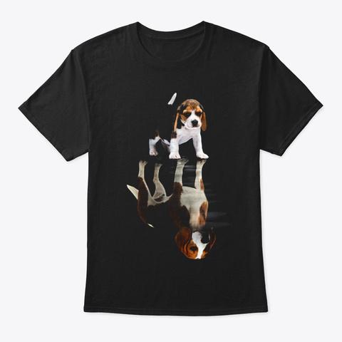 Beagle Black T-Shirt Front