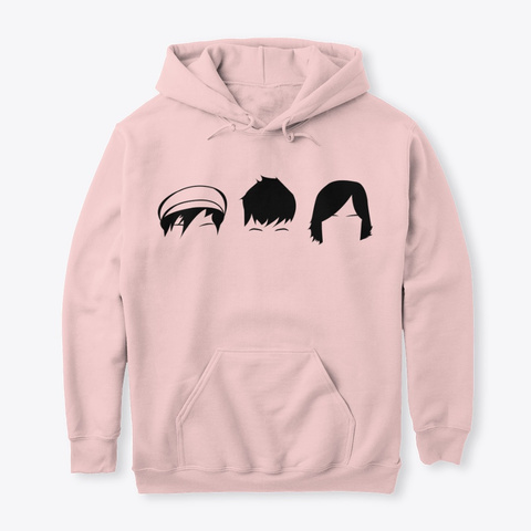 The Big Push Classic Hoodie Light Pink T-Shirt Front