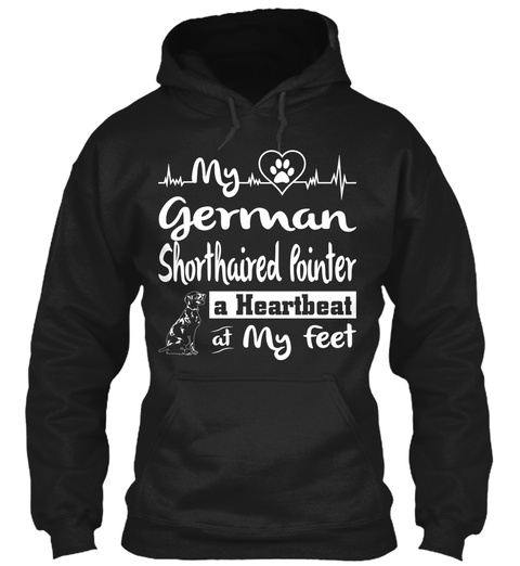 German Shorthaired Pointer Dog T Shirt  Black T-Shirt Front