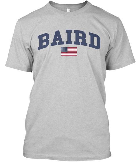 Baird Family Flag Light Steel T-Shirt Front