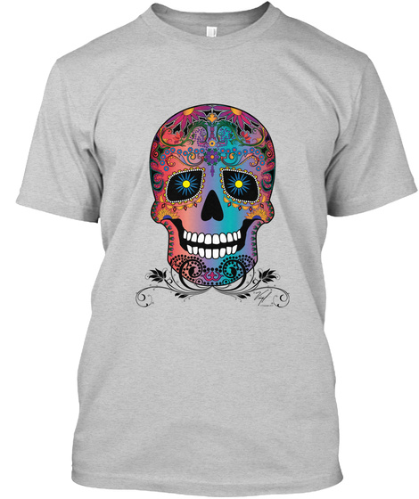 Sugar Skull One Light Steel T-Shirt Front