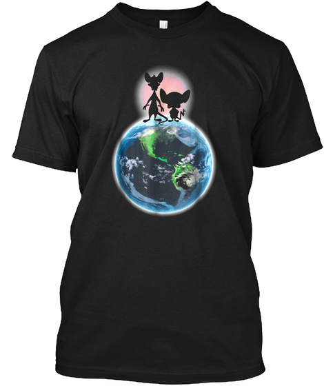 Pinky And The Brain   Brain T Shirt Black T-Shirt Front