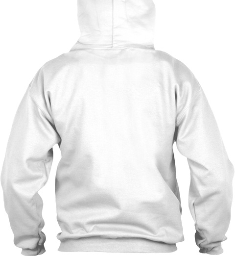 Koi Oni Custom Graphic Hoodie White Sweatshirt Back