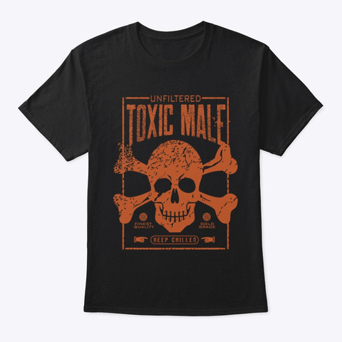 Toxic Male Black T-Shirt Front