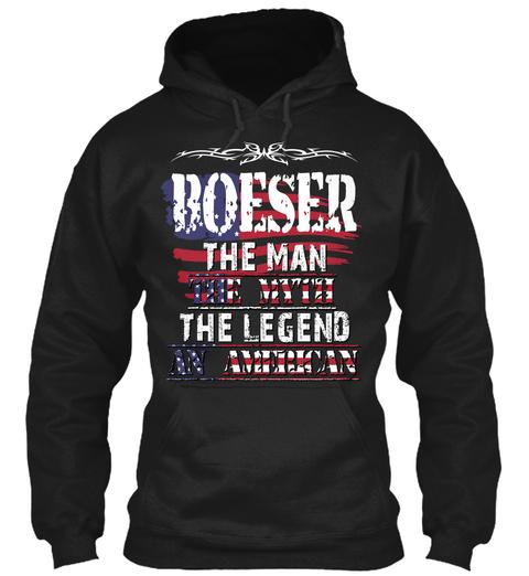 Boeser  Black T-Shirt Front