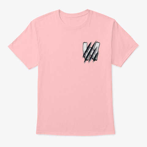 'scratches' Pale Pink T-Shirt Front