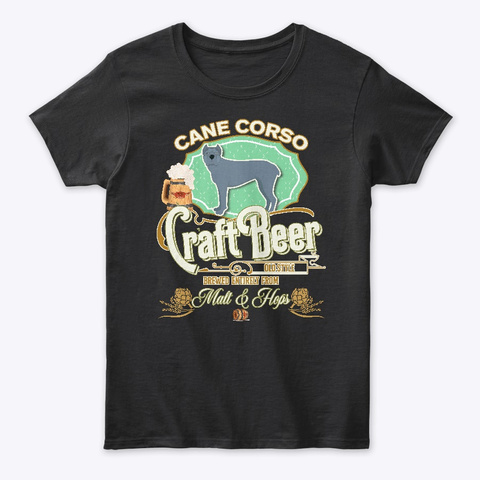 Cane Corso Gifts Black T-Shirt Front