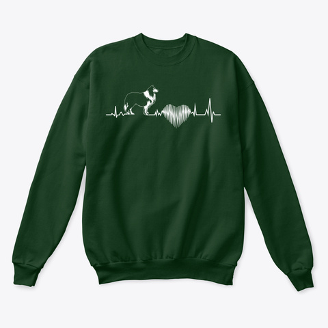 Rough Collie Funny Gift Tshirt   Dog Lov Deep Forest  T-Shirt Front