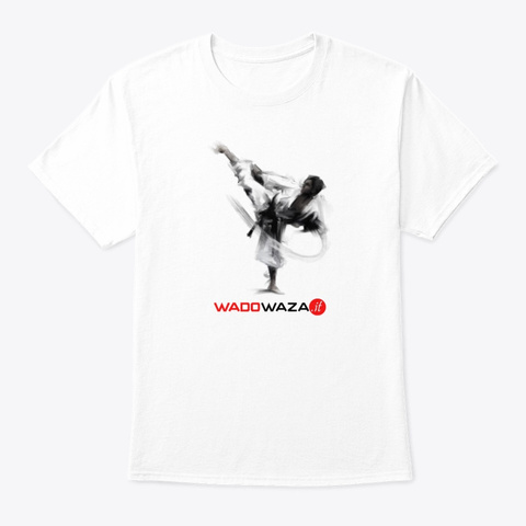 K Ick 'em All By Wado Waza Karate White T-Shirt Front