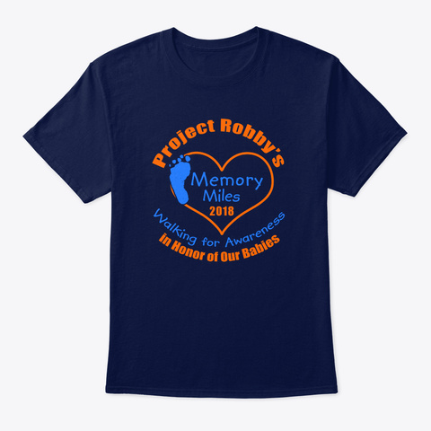 Project Robby's Memory Miles 2018 Navy T-Shirt Front