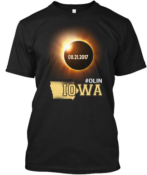 Eclipse Olin Ia. Customizable City Black T-Shirt Front