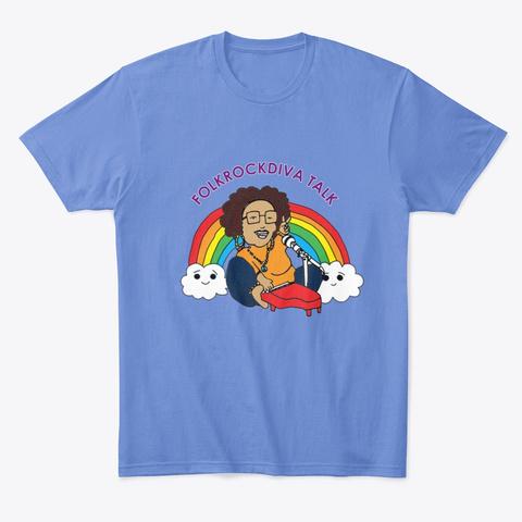 Folk Rock Diva Talk Merch Store Heathered Royal  T-Shirt Front