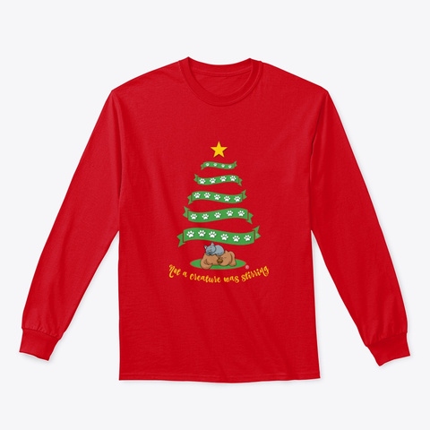 Not A Creature Was Stirring 2019 Red T-Shirt Front