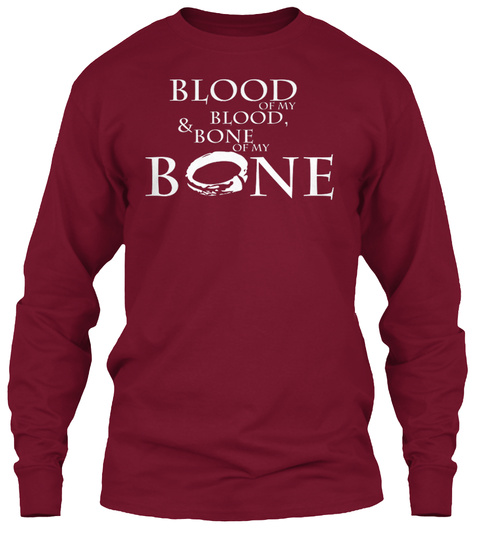 Blood Of My Blood & Bone Of My Bone Cardinal Red Long Sleeve T-Shirt Front