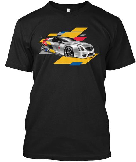 V Racing Shirt Black T-Shirt Front