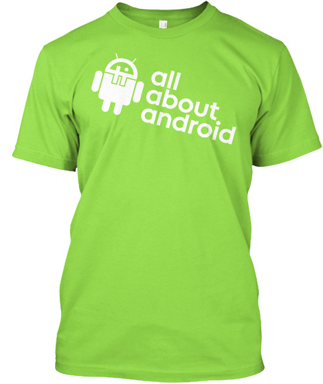 T Wi T.Tv  All About Android  Dark Shirt T-Shirt Front