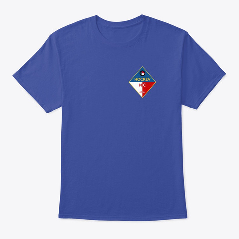 Hockey Nc Logo Deep Royal T-Shirt Front