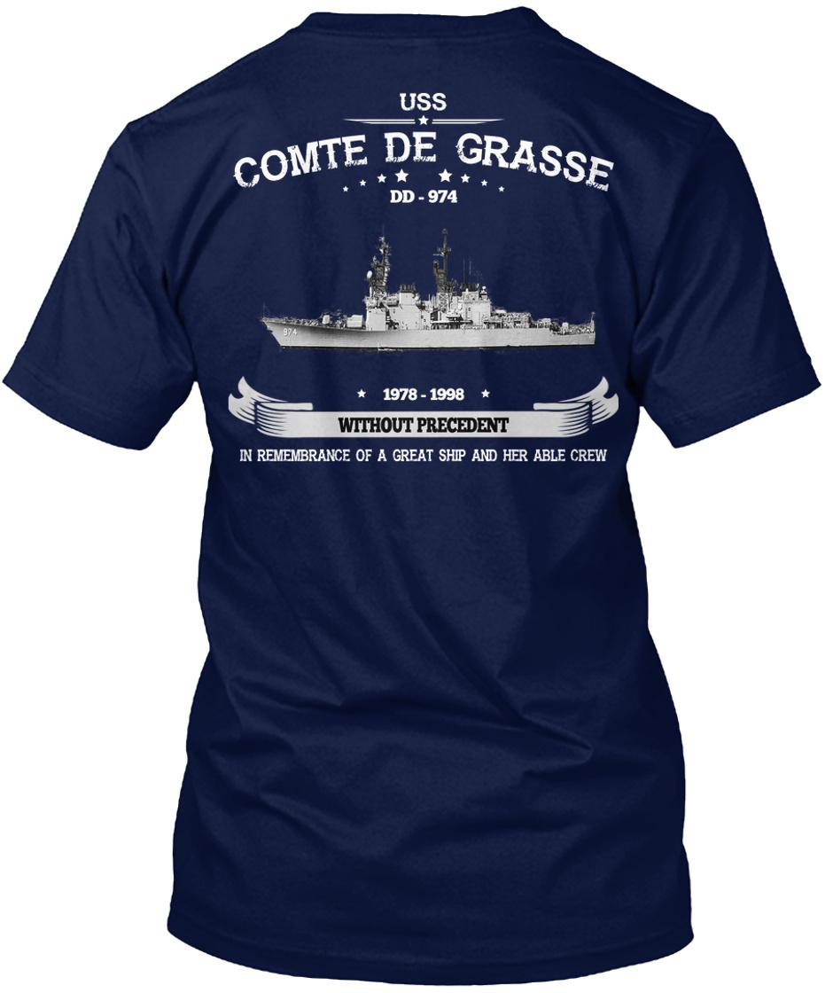US USN Navy USS Comte de Grasse DD-974 T-Shirt